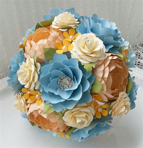How To Make Paper Flower Wedding Bouquet - paper bouquet paper flower bouquet wedding bouquet