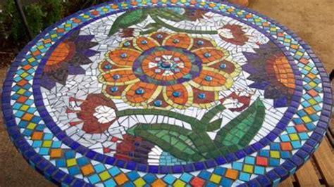 round mosaic pattern ideas backyard landscaping ideas mosaic stepping stone