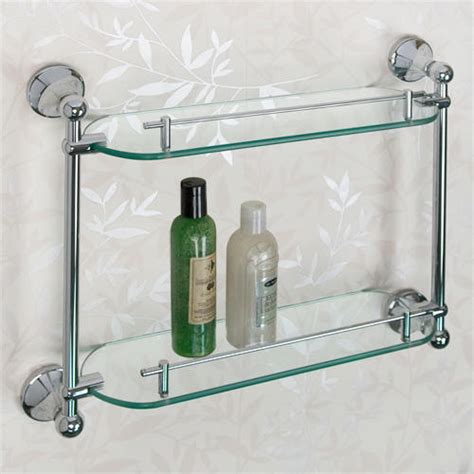 Glass Shelving For Bathrooms Ballard Tempered Glass Shelf Two Shelves Bathroom