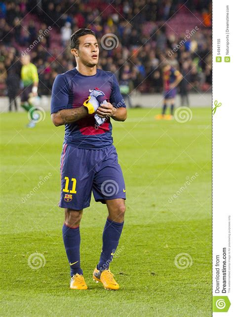 barcelona last match thiago alcantara editorial image image 54941155