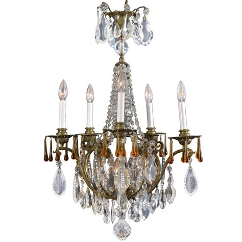 Candle Light Fixture Six Light Electrified Candle Fixture At 1stdibs
