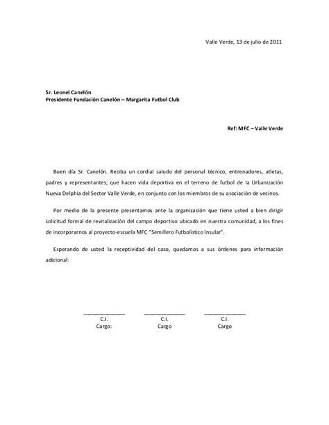 modelos de cartas modelos de cartas de solicitud modelo de solicitud mfc
