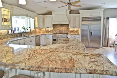 White Kitchen Decorating Ideas by Typhoon Bordeaux Granite With Full Backsplash