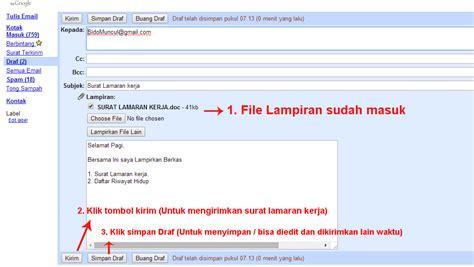 contoh lengkap mengirim surat lamaran kerja via email yang