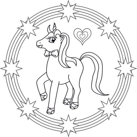 imagenes de unicornios infantiles para colorear unicornios mandalas y zentangles con pegasus para