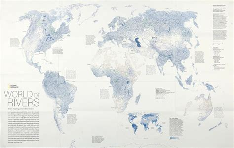 world map of large rivers june 2014 commission on map design page 2
