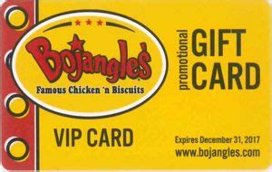 Bojangles Gift Card - gift card vip promotional gift card restaurants united states of america