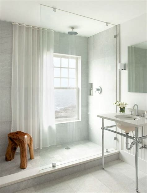 bathroom shower window window in shower shower curtain for privacy and to