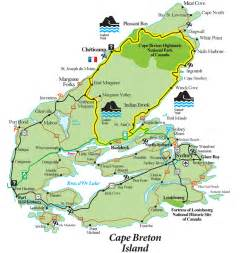 cape breton canada map cabot trail map cape breton island scotia mappery