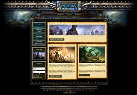 templates for gaming website fantasy gaming joomla template