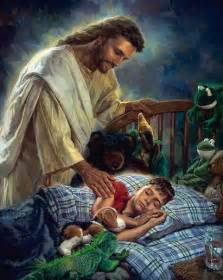 Jesus with baby jesus loves children and always takes care of them you