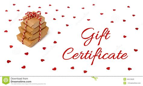 gift certificate christmas gift card design stock photo image  holiday layout