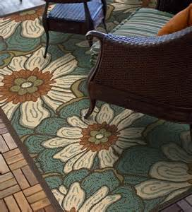 Large Outdoor Rugs 7 10 Quot X 10 10 Quot Casey Large Floral Rug Indoor Outdoor Rugs