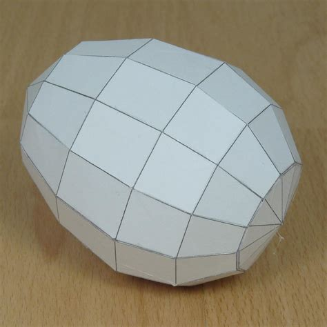 How To Make A Polyhedron Out Of Paper - paper model semi prolate heptacontadihedron semi prolate