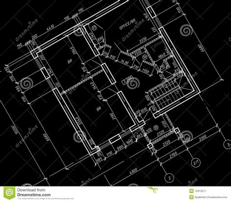 Home Floor Plans With Prices by Cad Architectural Plan Drawing Blueprint Stock
