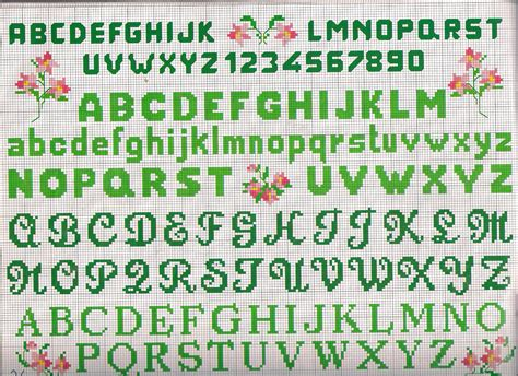 lettere grandi da stare lettere e numeri piccoli magiedifilo it punto croce