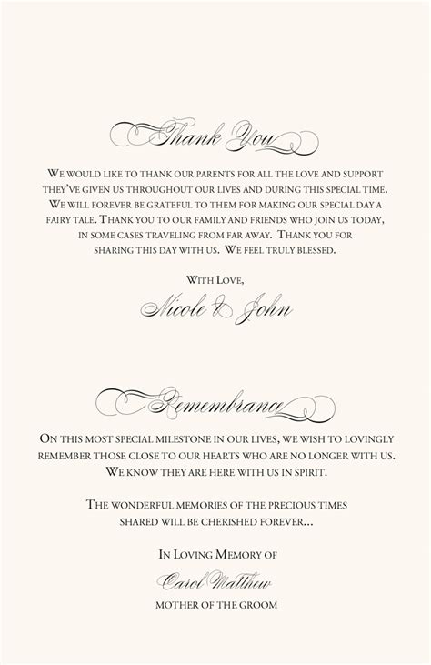 the design of wedding program thank you wording criolla vineyard themed wedding program exles wedding program