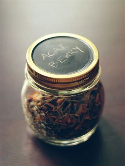 Leaf Teas Stored In Jars With Chalkboard Paint