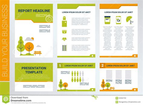 A4 Sheet Cover And Presentation Template In Green Theme 2020 Vision Ppt Template Free