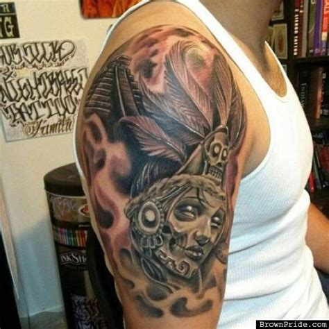 brown pride tattoos designs mexica azteca tattoos tattoos piercings gallery