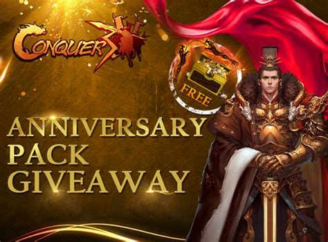 Conquer Online Giveaway - conquer online anniversary pack giveaway promo codes