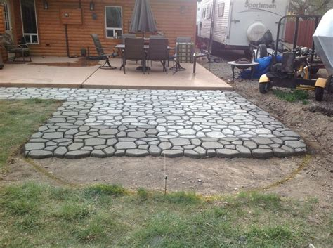 Patio Molds Concrete Pavers Concrete Paver Molding In Progress Diy Molded Concrete Pavers Walkways