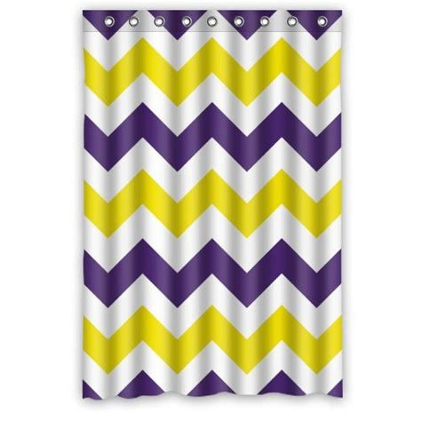 purple and yellow curtains best purple chevron shower curtain