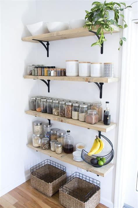 open shelving ideas 12 best collection of kitchen wall shelves