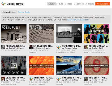 Creative Presentation Ideas A Guide To The Haiku Deck Imaginative Presentation Ideas