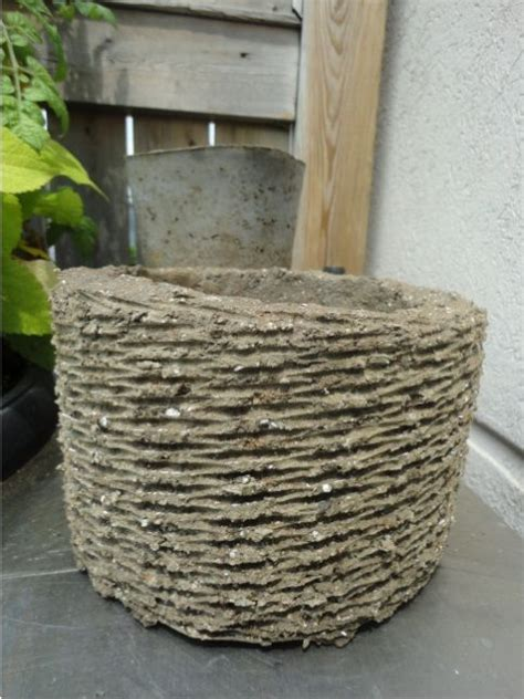 diy hypertufa basket made with portland cement peat