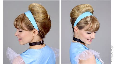 quick easy princess roll with hairband easy cinderella updo for halloween youtube