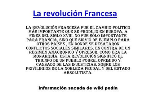 Resumen Q Es by La Revoluci 243 N Francesa