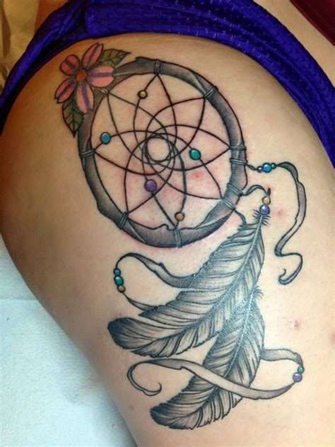 dream catcher tattoo on side hip 21 nice dreamcatcher tattoos designs