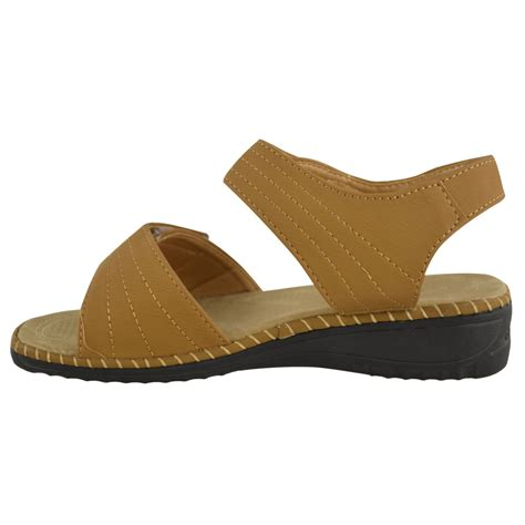 women s comfort sandals walking ladies womens velcro comfort wide casual walking flat
