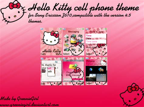 hello kitty cell phone themes hello kitty cell phone theme by greeniegirl on deviantart