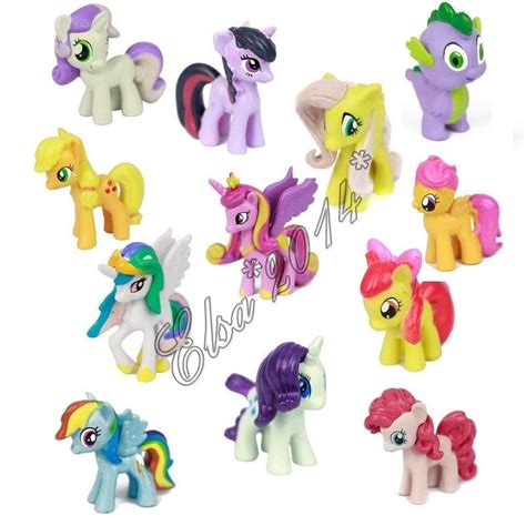 Pony Figure Set Isi 12 Pcs 1 set of 12 my pony figures lot spike celestia rainbow dash pony new ebay