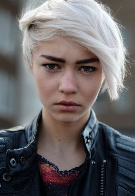edgy gray hairstyles 533 best blonde female characters images on pinterest