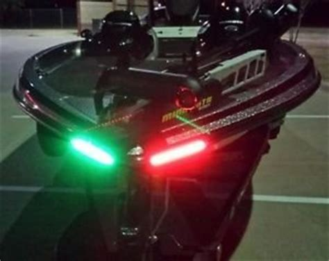boat lights bow boat bow led lighting red green kit