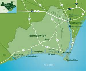 brunswick map new hanover county carolina s southeast