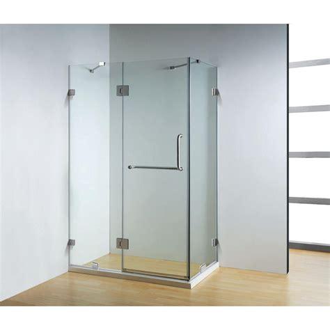 Dreamwerks 47 In X 32 In X 79 In Frameless 3 Piece Home Hardware Shower Doors