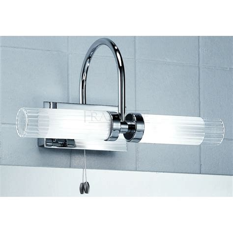 bathroom light above mirror franklite wb535 chrome mirror bathroom light at
