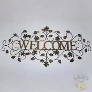 metal wall rustic welcome sign wall decor sculpture