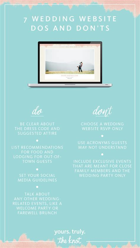 7 Wedding Website Dos and Don'ts   Wedding Website Ideas