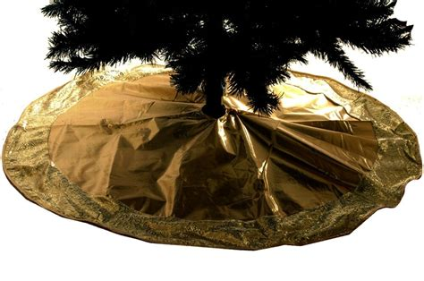 elegant christmas tree skirts gold ornante modern shiny swirl fancy big tree skirt 48 quot new ebay
