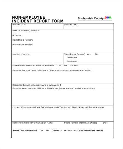 employee behavior incident report template 31 incident report exles sles
