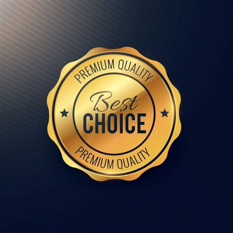 best choise gold seal best choice vector free