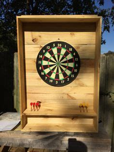 Outdoor Dart Cabinet by Outdoor Dartboard Stand 2x4s And Osb With 2 Coats
