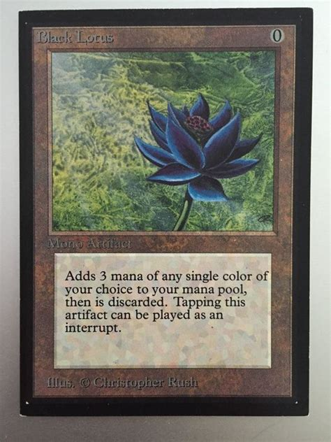 magic gathering black lotus magic the gathering international edition black lotus