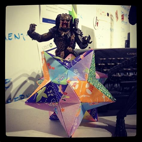 Origami Pronunciation - thirty days of origami day 13 origami lesser stellated