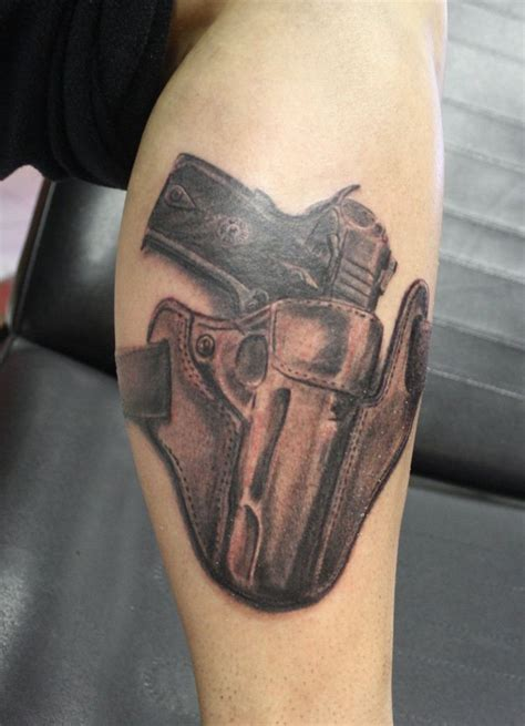 gun tattoo on thigh 30 mind blowing gun tattoos designs best 3d gun
